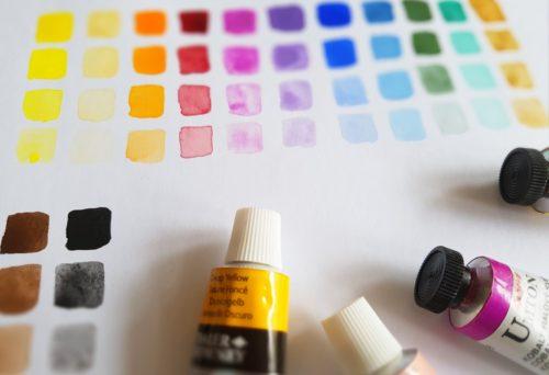 tuby kvašových barev
