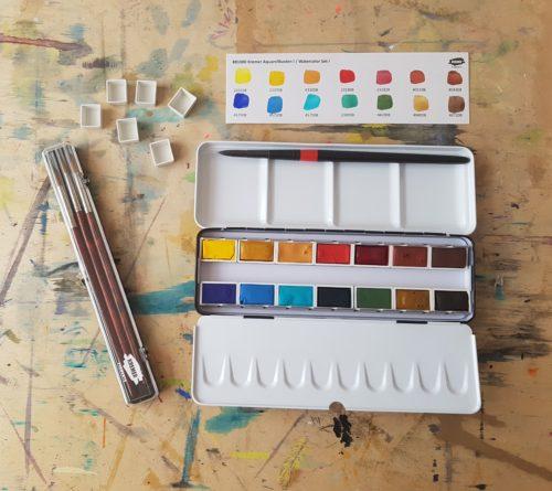 krabice akvarelových barev Kremer Pigmente