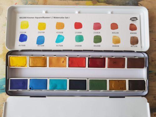 vzorník barev Kremer Pigmente