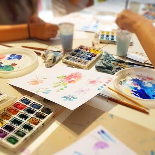 Den s Kreativem 2019 v Creative World - Narozeninový dům. Akvarelový workshop pro časopis Kreativ 21. 6. 2019 v Praze.