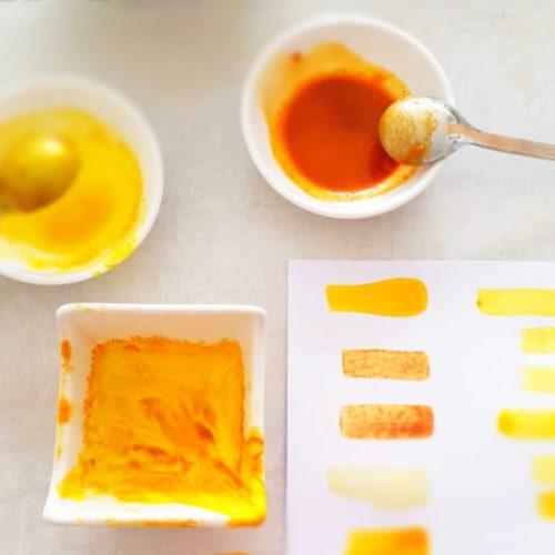 inkoust z kurkumy