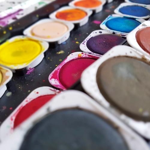 vodovky nebo akvarel