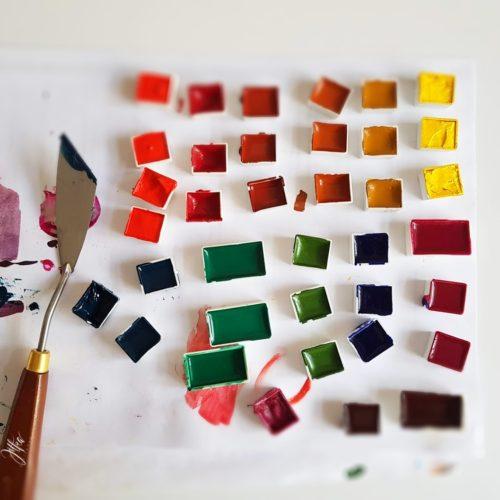 akvarely Jitka Zajíčková v pánvičkách