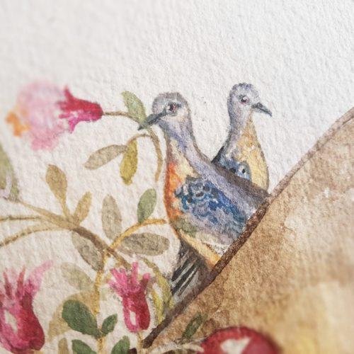 plakát Kreativ holub stěhovavý
