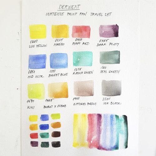 Derwent Inktense Paint Pan
