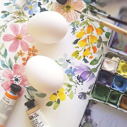 kraslice akvarel