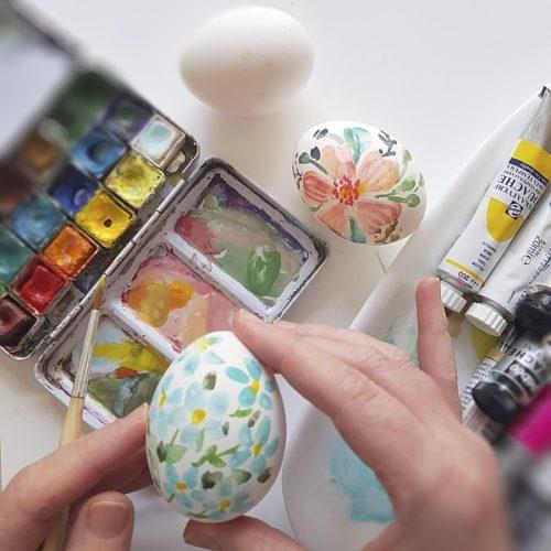 kraslice akvarel a kvašové barvy
