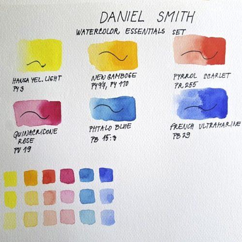 DS essentials set swatches vzorník akvarel