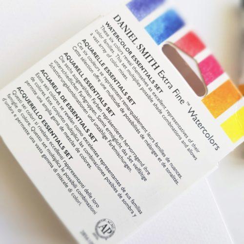 akvarel Daniel Smith watercolor essentials set