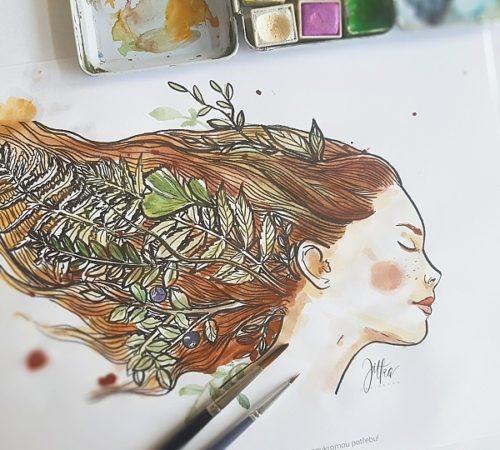 akvarelsjitkou omalovánka
