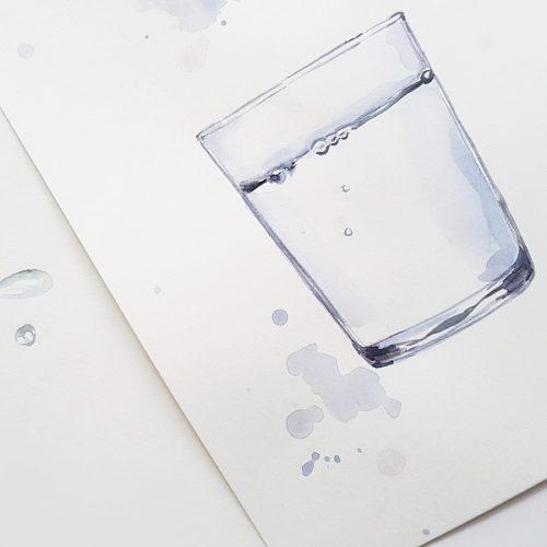 voda akvarel